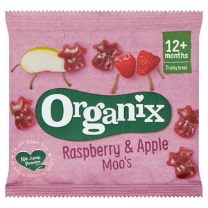 Organix 12 Month Goodies Fruit Moos Raspberry & Apple