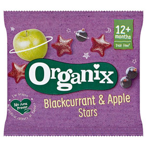 Organix 12 Month Goodies Fruit Stars Blackcurrant & Apple