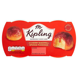 Mr Kipling Exceedingly Good Puddings 2 Pack Cherry Bakewell