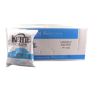 Kettle Chips Lightly Salted 40g x 18 Pack