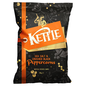 Kettle Chips Sea Salt & Peppercorn