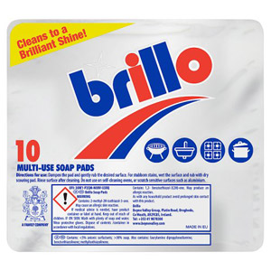 Brillo Soap Pads 10 Pack 150g