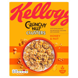 Kelloggs Crunchy Honey and Nut Clusters