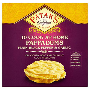 Pataks 10 Assorted Pappadums