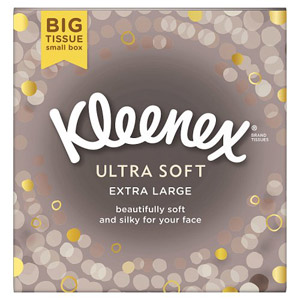 Kleenex Ultra Soft Tissues 3ply Mansize Compact 50 Pack