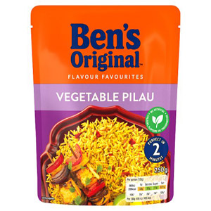 Uncle Bens Express Vegetable Pilau Rice