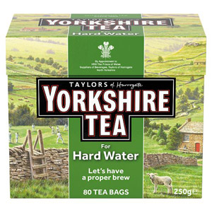 Yorkshire Hard Water Tea Bags 80s
