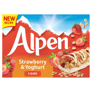 Alpen Strawberry and Yoghurt Cereal Bar 5 Pack