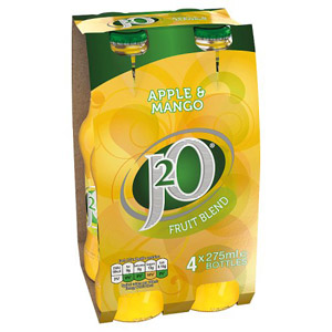 Britvic J2O Apple & Mango Fruit 4 x 275ml
