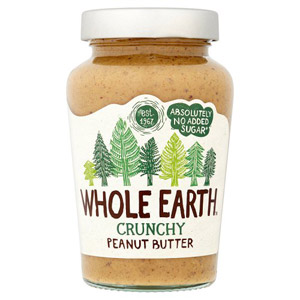 Whole Earth No Added Sugar Crunchy Peanut Butter
