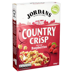 Jordans Country Crisp Whole Raspberries
