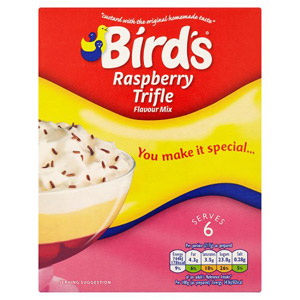 Birds Trifle Raspberry Serves 4-6