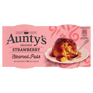 Auntys Strawberry Pudding 2 Pack