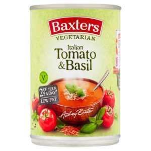 Baxters Vegetarian Tomato and Basil Soup