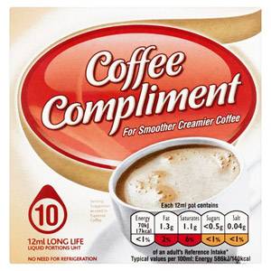 Compliment For Coffee 10 Mini Pots Pack 300g