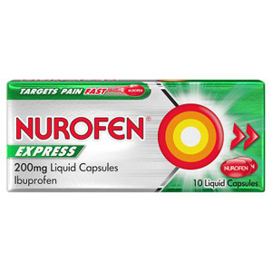 Nurofen Express Liquid Capsules 10 Pack 200mg