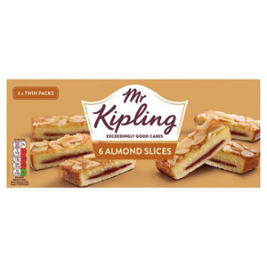 Mr Kipling Almond Slices 6 Pack