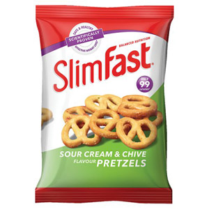 Slim Fast Sour Cream & Chives Pretzels