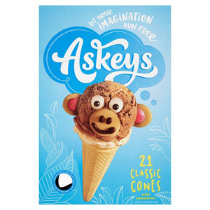 Askeys Round Cornets 21 Pack