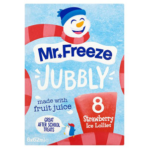 Mr Freeze Jubbly Ice Lollies Strawberry 8 Pack