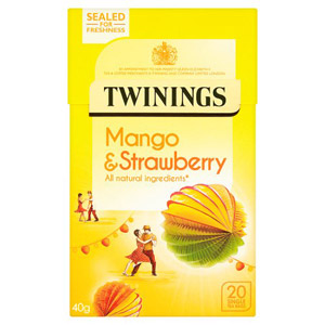 Twinings Mango and Strawberry Caffeine Free Tagged Tea 20