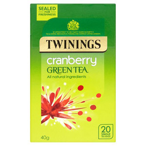 Twinings Green Cranberry 20 Teabags
