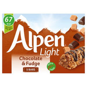 Alpen Light Chocolate and Fudge Bar 5 Pack