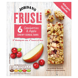 Jordans Frusli Bars Cranberry and Apple