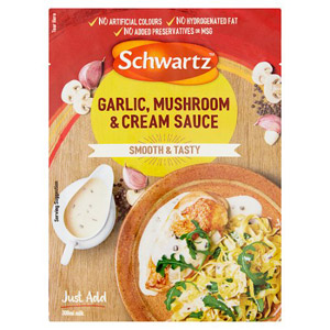 Schwartz Garlic Mushroom and Cream Sauce