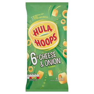 KP Hula Hoops Cheese & Onion 6 Pack