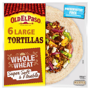 Old El Paso Whole Wheat Tortilla Wraps