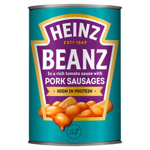Heinz Baked Beans and Pork Sausages Large Size