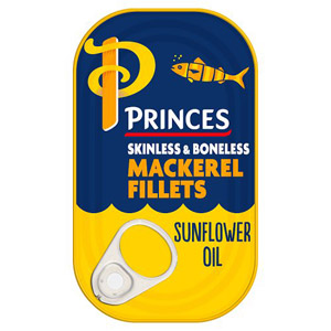 Princes Mackerel in Sunflower Oil