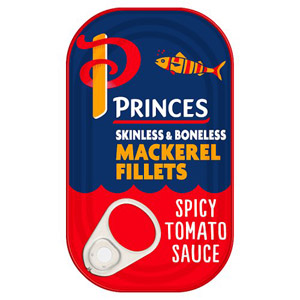 Princes Mackerel Fillet Spicy Tomato