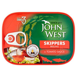 John West Smoked Skippers in Tomato Sauce