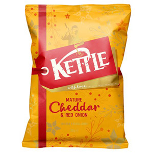 Kettle Chips Mature Cheddar and Red Onion