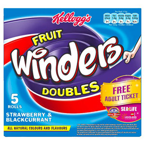 Kelloggs Fruit Winders Strawberry and Blackcurrant 6 Pack
