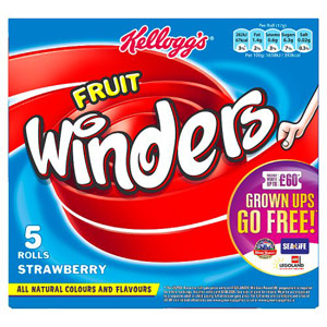 Kelloggs Fruit Winders Strawberry Double 5 Pack