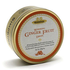 Simpkins Warming Ginger Fruit Drops