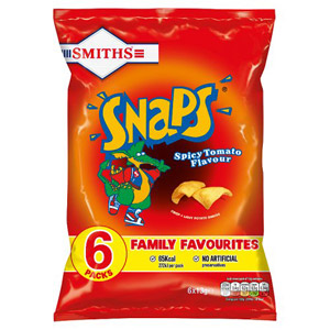 Smiths Spicy Tomato Snaps 8 Pack