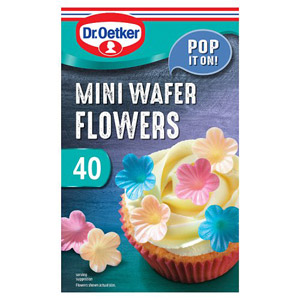 Dr. Oetker Mini Wafer Flowers 40 Pack