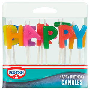 Dr. Oetker Happy Birthday Stick Candles
