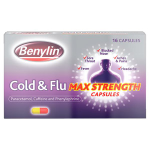 Benylin Max Strength Cold & Flu Capsules 16 Pack