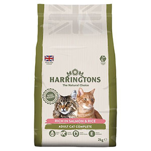 Harringtons Salmon & Rice Dry Cat Food 2kg