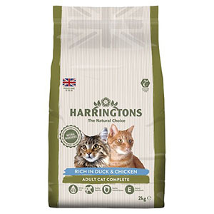 Harringtons Duck & Rice Dry Cat Food 2kg