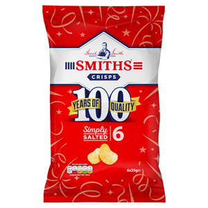 Smiths 7 Pack Crisps Simply Salted