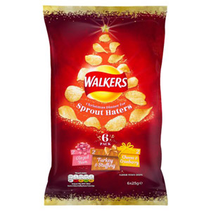 Walkers Christmas Dinner For Sprout Haters 6 Pack