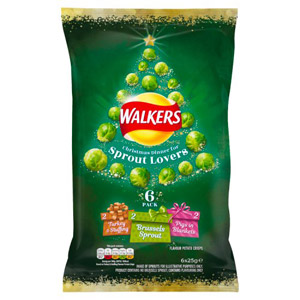 Walkers Christmas Dinner For Sprout Lovers 6 Pack