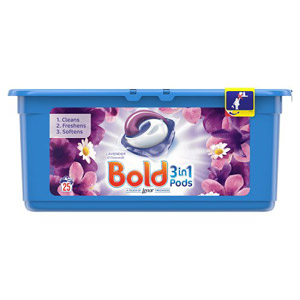 Bold 3in1 Washing Capsules Lavender & Camomile 12 Pack