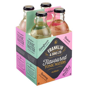 Franklin & Sons Flavoured Tonic Waters 4 Pack